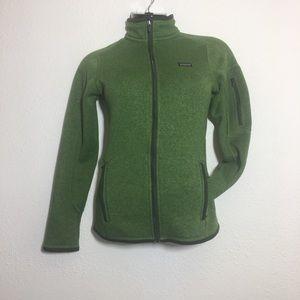 Patagonia Full Zip Green Sweater Size XS